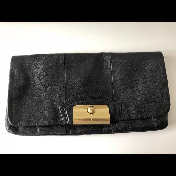 Coach Handbags - Coach Black Leather Clutch - 100% Authentic